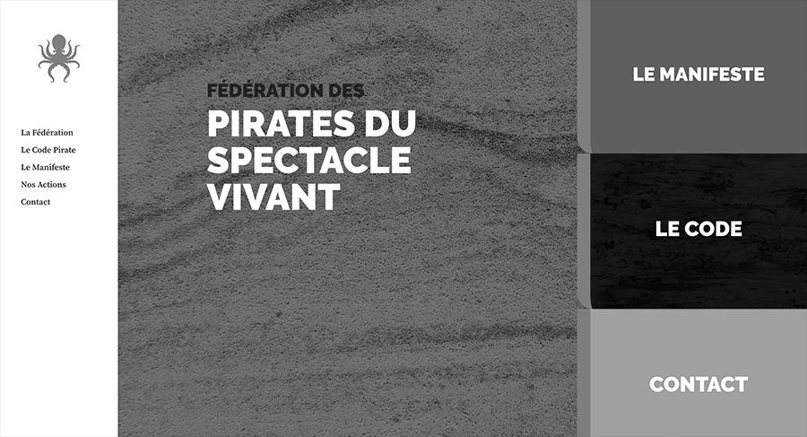 1R2com Création Site Web Fédération des Pirates du Spectacle VIvant