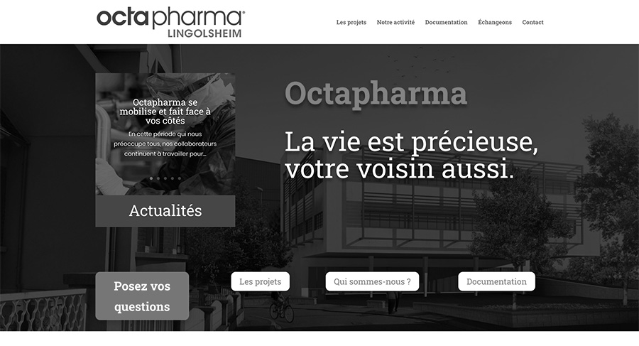 1R2com Création Site Web pour Octapharma